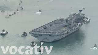 The HMS Queen Elizabeth Is The Biggest Aircraft Carrier In The Royal Navy