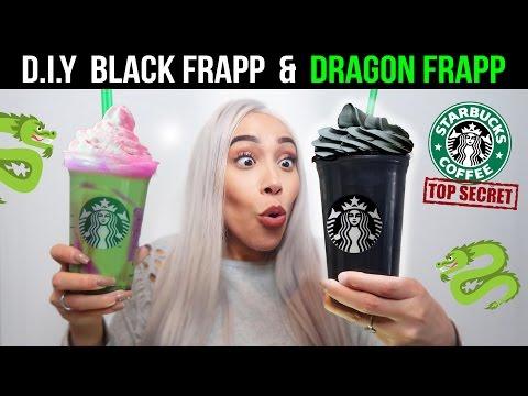 DIY STARBUCKS BLACK & DRAGON FRAPPUCCINO SECRET MENU TASTE TEST!! 🐲🐉 (LIMITED EDITION)