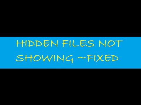 Hidden files are not showing in windows 8.1 ~ Error Fixed