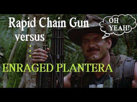 Terraria: Rapid Chain Gun vs. Enraged Plantera