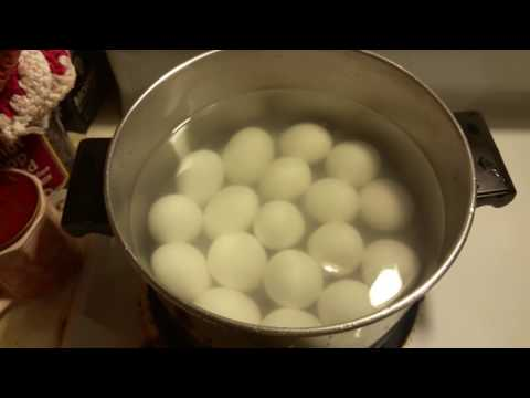 How to hard boil eggs so they PEEL EASY! (Best Way)