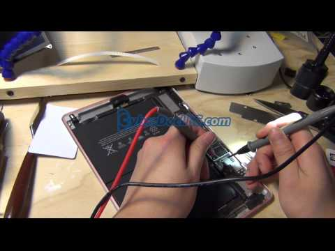 iPad Air no backlight Dim screen repair service sample video CyberDocLLC.com