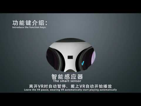 3D VR Headset VR All in One Virtual Reality Headset WIFI Support Android 4.4 2G/16G