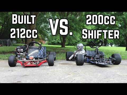 Yard Kart Racing Head to Head | 200cc vs. 212cc
