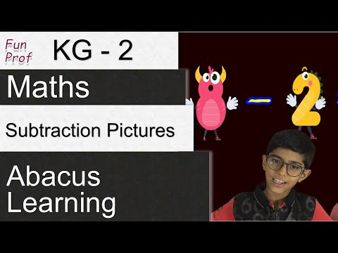Learning Subtraction with Pictures - (Kindergarten-2/KG-2/ K-2) - Kids- Teaching-Kids