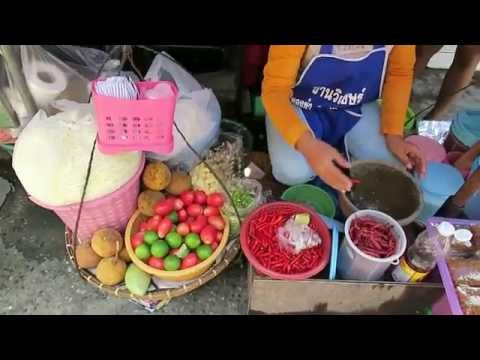 Best Thai Papaya Salad - Thai Som Tum - Thailand Street Food