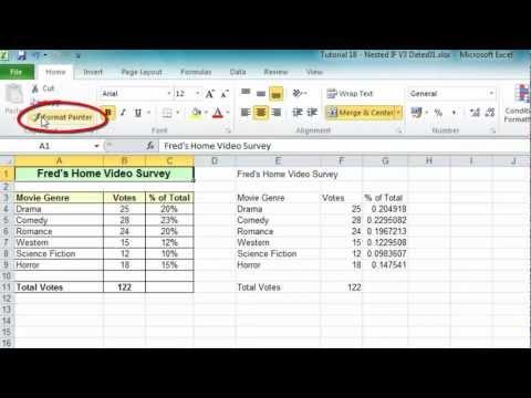 Excel Tip #006 - Format Painter for Ranges & Worksheets - Microsoft Excel 2010 2007 2013 2003