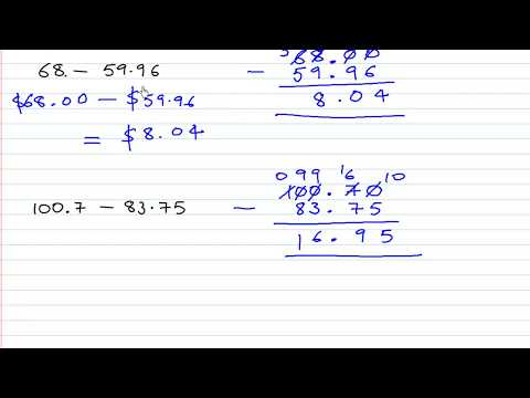 Add and Subtract Decimal numbers