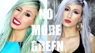 How To Fix Green Hair In Blonde Silver