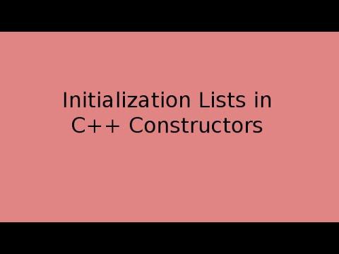 C++ Initialization Lists explained