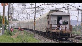 Compilation of 2 Jumbo Double Decker Car Carrier Trains in Madhya Pradesh & Maharashtra, India !!!