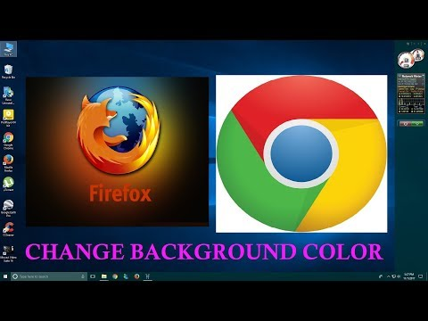 How to change background color in Google Chrome and Firefox