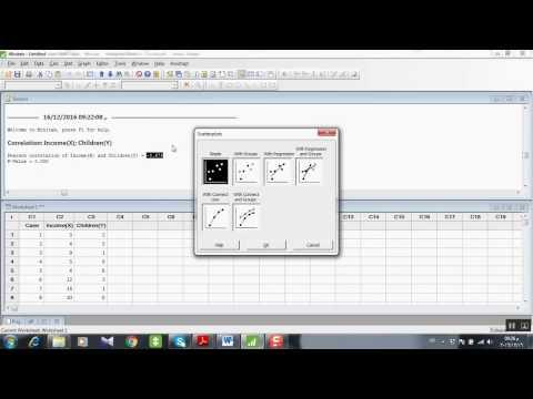 Statistic using MINITAB: Correlation and regression