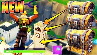 """Tilted Towers """"SECRET CHEST LOCATIONS"""" in FORTNITE!! (NEW CITY CHEST SPOTS)"""