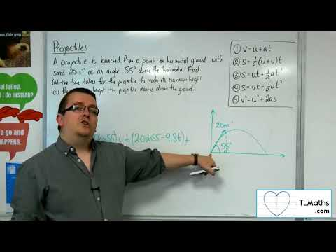 A-Level Maths 2017 Q5-03 Projectiles: From the Ground Example 1 Integration Method