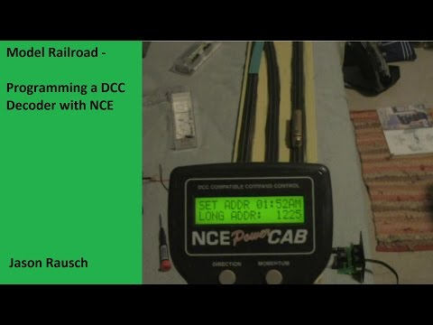 Model Railroad - Programming a DCC Decoder with NCE