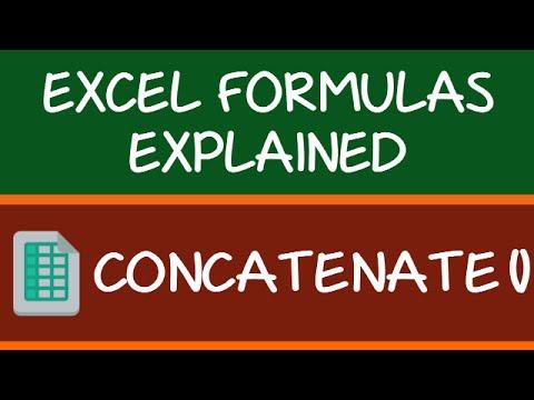 CONCATENATE Formula in Excel