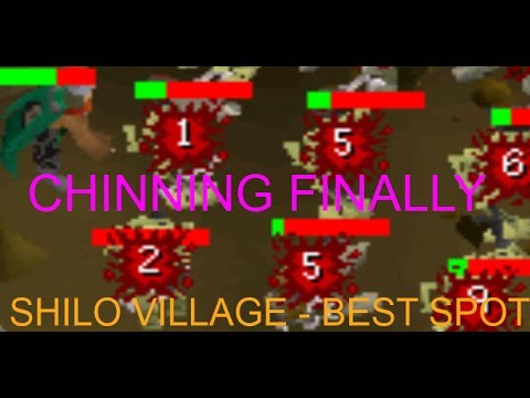 RuneScape 2007 - Shilo Village Chinning | Second Best Chinning Location! | Ninian Park