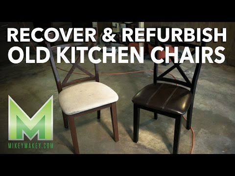 Refurbishing and Recovering Kitchen Chairs - plus a foray into Stop Motion