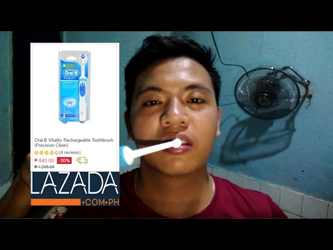 Oral B Vitality Precision Clean Unboxing Demo Review Lazada