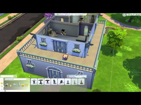 The Sims 4: Building a Home - Furnishing Skill Rooms & Balcony; Final Adjustments