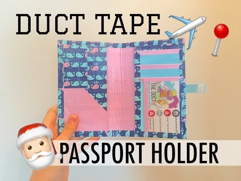 DIY Duct Tape Passport Holder Tutorial! (Xmas Edition)