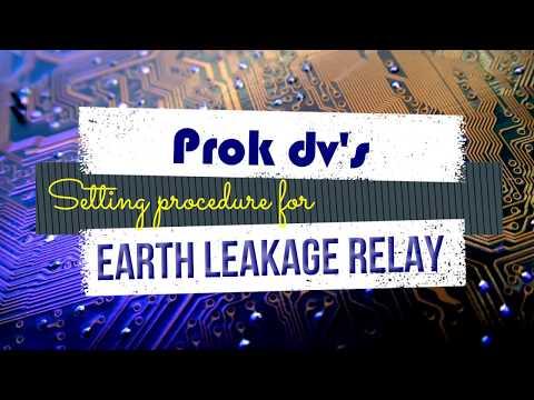 Setting procedure for Prok DV's earth leakage relay model MPELSPL