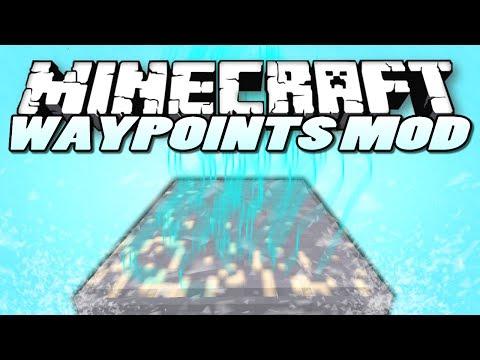 Minecraft   Waypoints Mod   (INSTANT TELEPORTATION!)   Mod Showcase