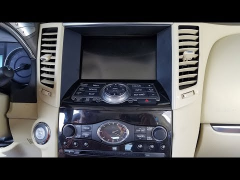 How to Remove Radio / Navigation / Display from Infiniti FX35 2012 for Repair.