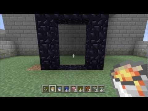 Minecraft Xbox 360 - Make a Nether Portal Without a Diamond Pickaxe (Quick Tip)