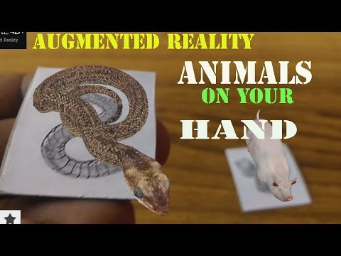 Augmented Reality for Kids| Animals on Your Hand
