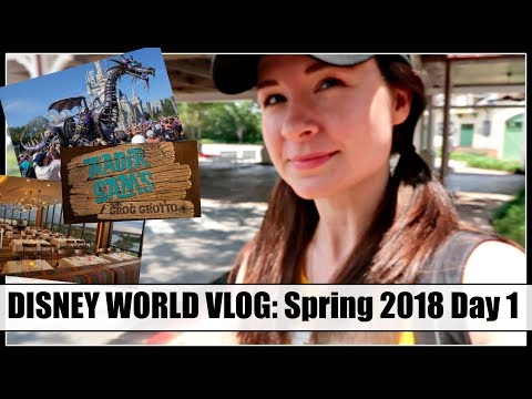 DISNEY VLOG: Magic Kingdom, California Grill & Trader Sam's! Spring 2018, Day 1
