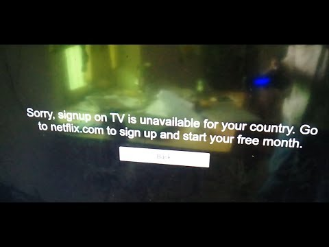 Sorry, signup on TV is unavailable for your country. Go to netflix.com to sign up