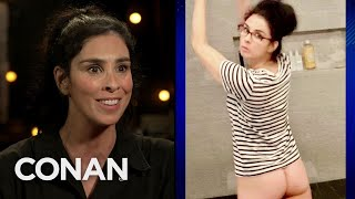 Sarah Silverman Is Using Her Butt To Get Podcast Subscribers - CONAN on TBS