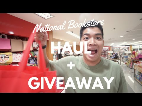 National Bookstore SHOPPING (vlog) HAUL + GIVEAWAY (Philippines) | DAVID SAMSON