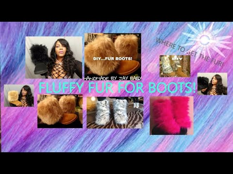 WHERE TO BUY FLUFFY FUR FOR BOOTS!
