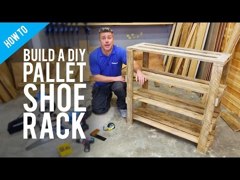 Build a DIY pallet shoe rack