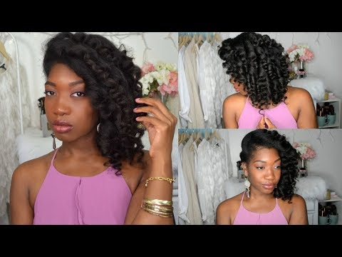 Side Swept Curls | Holiday Glam Wand Curls + How To Blend Clip-Ins Wtih Natural Hair feat. UNice