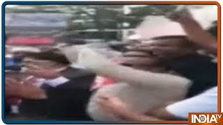 """""""Don't Abuse Our PM"""" Shazia Ilmi to Protesters with Pak Flags In Seoul"""