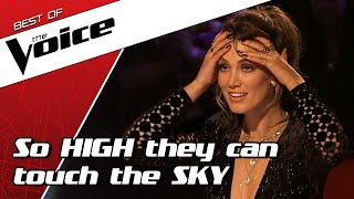 TOP 10   Stunning HIGH NOTES in The Voice that are out of this world!