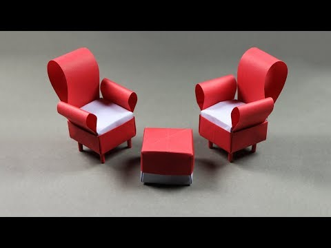 How to make a paper sofa: DIY Paper Crafts (Very Easy)