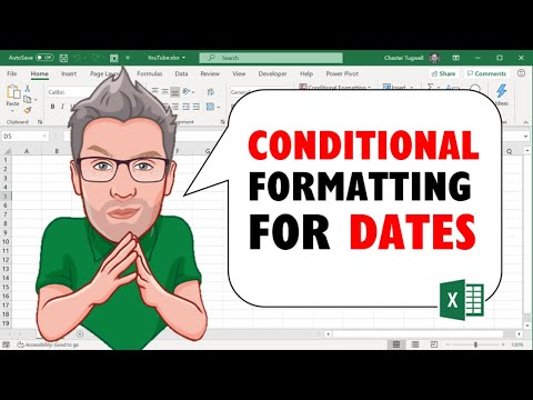 Excel Conditional Formatting for Dates in the Past/Future/Today