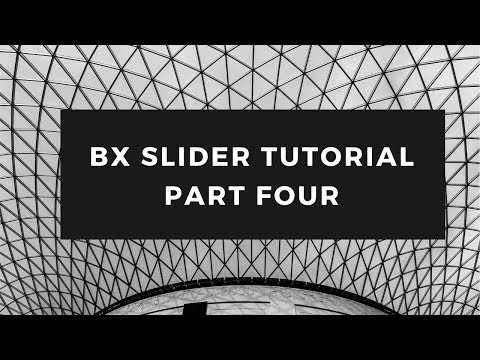 How to use bx slider for your website | Part Four | Example Four