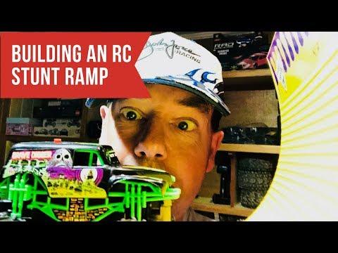 Building An RC Stunt Ramp - Monster Jam Style! - Driftomaniacs
