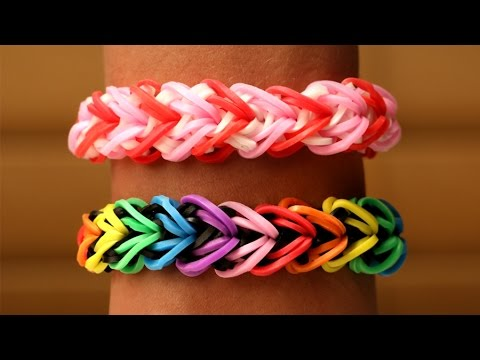 Rainbow Loom English - HEARTLET - Loom Bands, easy, how to, DIY