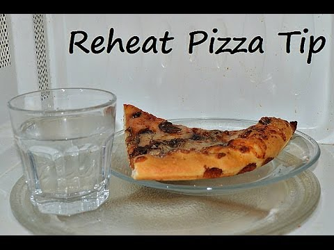 Pizza Reheat Microwave Tip. How to Get Crispy Crust on Leftover Pizza in 30 Secs by Chawla's Kitchen
