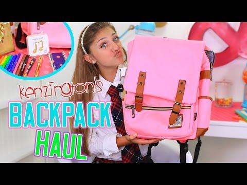 Kenzington's Backpack Haul | Back to School | Kamri Noel