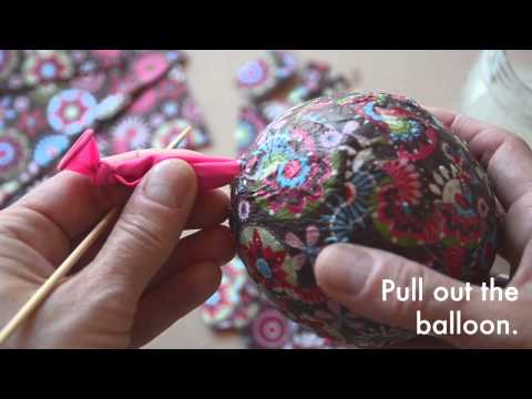 Make your own papier mache easter eggs
