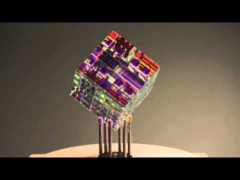 Chroma Cube  | Glass Sculpture by Jack Storms