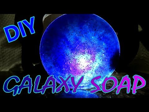DIY HOW TO MAKE GALAXY SOAP - MELT AND POUR TUTORIAL